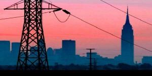 Power Transmission lines supplying electricity to big cities and towns